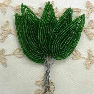 French Beaded Leaves Large Size