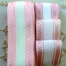 Load image into Gallery viewer, Vintage French Pink Polka Dot and Cord Trim