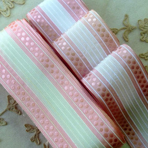 Vintage French Pink Polka Dot and Cord Trim