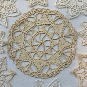 Antique Needle Lace Medallions