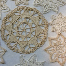 Load image into Gallery viewer, Antique Needle Lace Medallions