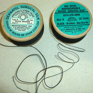 Vintage Surgical Silk Braid