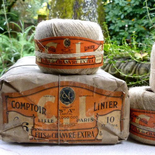 Antique French Linen Twine