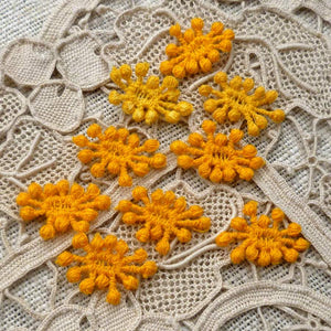 Vintage Woven Lace French Knots for Flower Centers