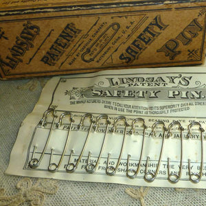 Victorian Heavy Steel Safety Pins