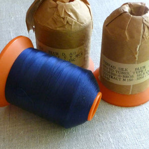 Vintage Gudebrod Bros Indigo Blue Silk Thread