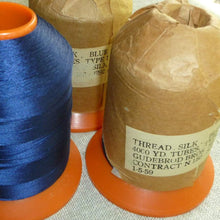 Load image into Gallery viewer, Vintage Gudebrod Bros Indigo Blue Silk Thread