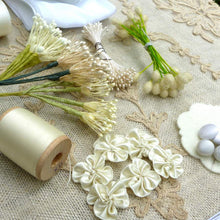 Load image into Gallery viewer, Wedding Collection of Vintage Ribbons For Flowers