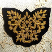 Load image into Gallery viewer, Vintage Gold Metal Bullion Applique