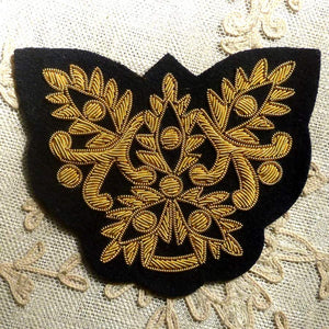 Vintage Gold Metal Bullion Applique