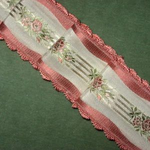 Vintage French Scalloped Edged Satin ribbon