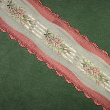Load image into Gallery viewer, Vintage French Scalloped Edged Satin ribbon