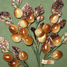 Load image into Gallery viewer, Speckled Browns Greens and Ivory Millinery Berries