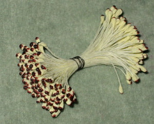Vintage Stamens Cream With Sienna Tips