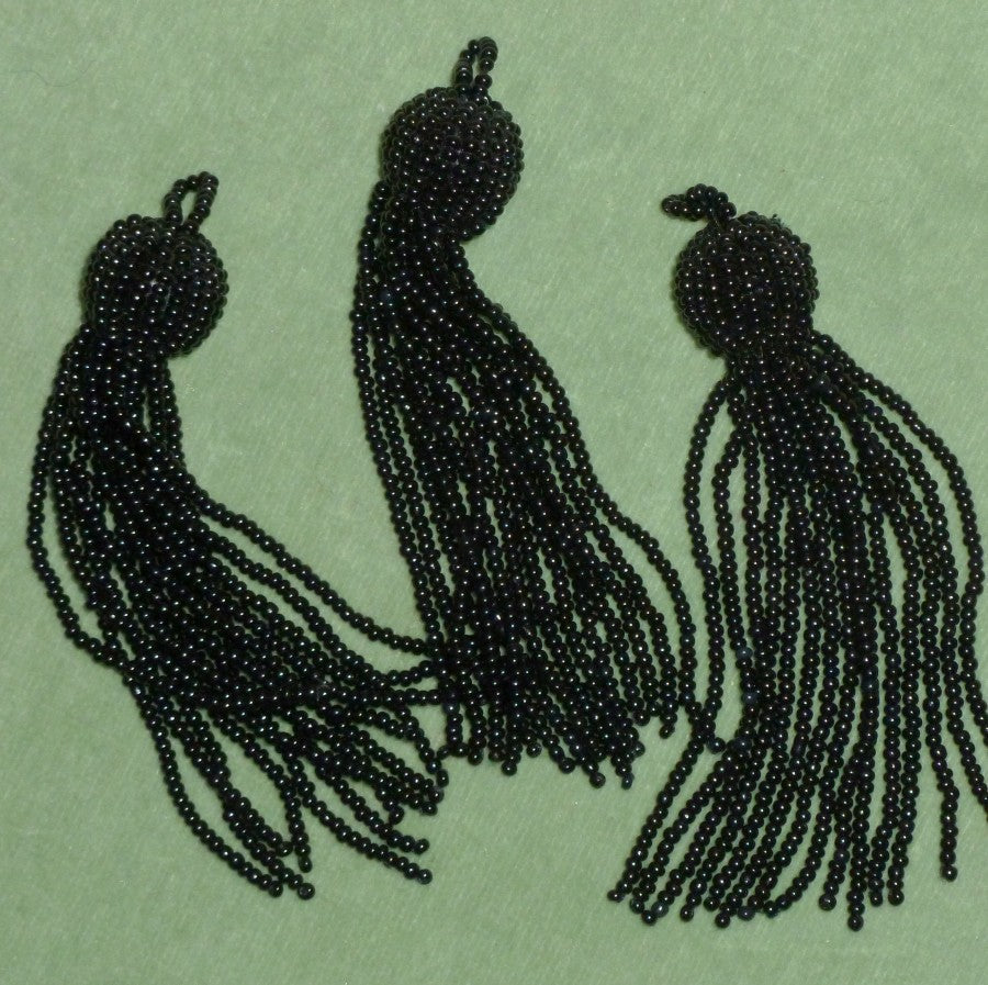 Vintage Glass Beaded Tassels