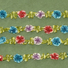 Load image into Gallery viewer, Antique French Ombre Ribbon Silky Rosette Trim      12 Inches