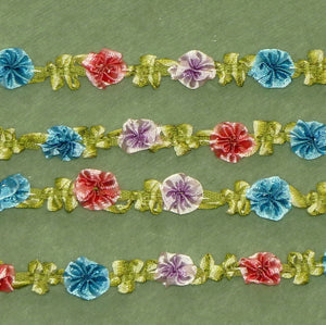 Antique French Ombre Ribbon Silky Rosette Trim      12 Inches