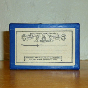 Circa 1940's Pill Box with French Label