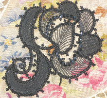 Load image into Gallery viewer, Victorian glass beaded applique