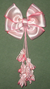 Art dyed silk satin bow and buds