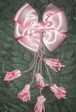 Load image into Gallery viewer, Art dyed silk satin bow and buds
