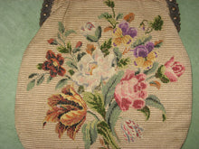 Load image into Gallery viewer, French Silk Pettipoint Purse with Art Nouveau Fittings