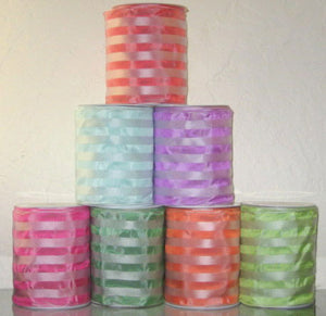 French Satin Stripe Ribbon