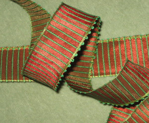 French Picot Wired Ribbed Ribbon