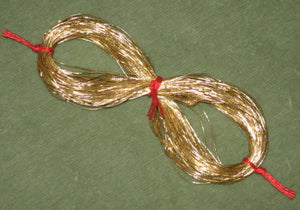Antique French Gilt Gold Metal Cord Thread
