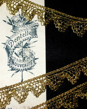 Load image into Gallery viewer, Antique French Gold Metal Lace Scalloped Border
