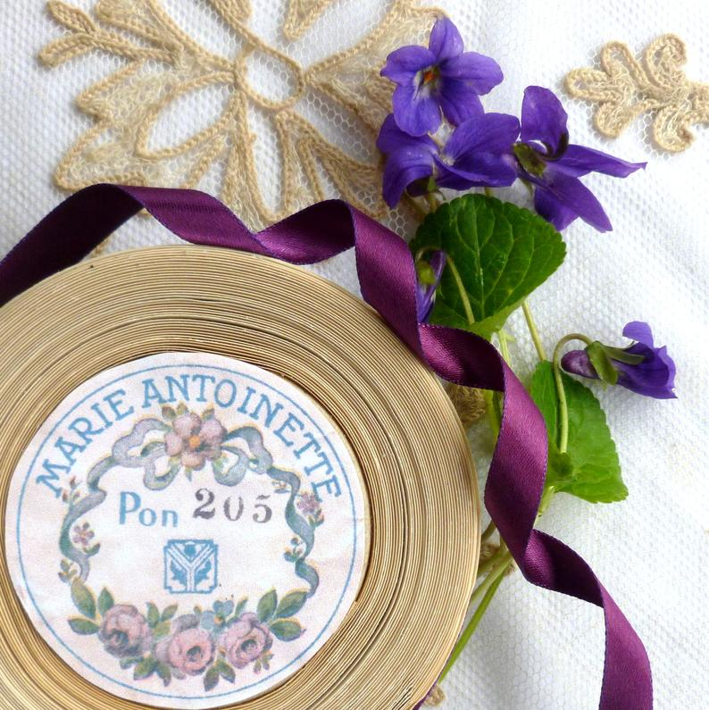Vintage Ribbon by the Roll - Royal Purple Double Faced Satin Ribbon