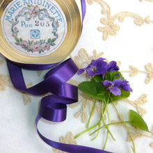 Load image into Gallery viewer, Vintage Ribbon by the Roll - True Violet Single Faced Satin Ribbon
