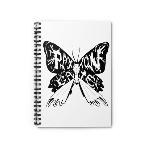 Ruled Line Moth Spiral Notebook-Paper products-Printify-PaxtonGate