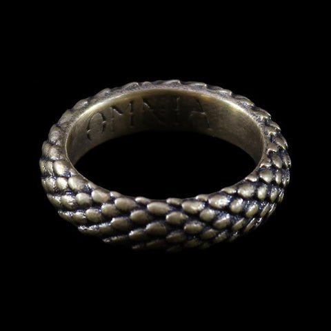 Draco Mini Ring Antiqued Brass-Rings-OMNIA Studios-PaxtonGate