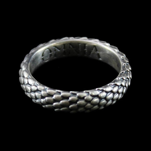 Draco Mini Ring Antiqued Sterling Silver-Rings-OMNIA Studios-PaxtonGate