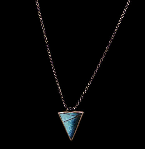 Blue Morpho Isosceles Necklace-ecklaces-Hart Variations-PaxtonGate