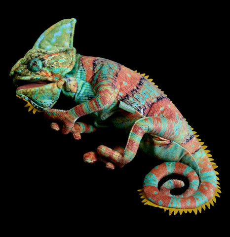 Chameleon Puppet-Toys-Folkmanis, Inc-PaxtonGate