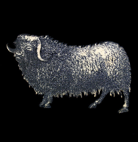 Birch Wood Musk Ox Magnet-Woodwork-Toad Hll Farm-PaxtonGate