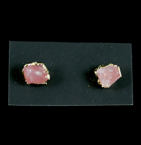Rose Quartz Stud Earrings-arrings-Dani Barbe-PaxtonGate