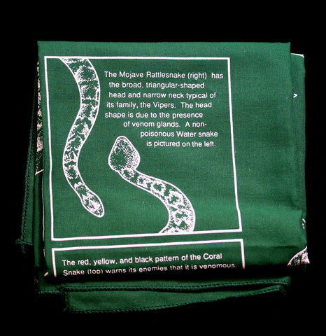 Snakes Nature Facts Bandana-Accessory-The Printed Image-PaxtonGate