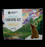 Soapstone Wolf Carving Kit-Science-Studiostone Creative-PaxtonGate