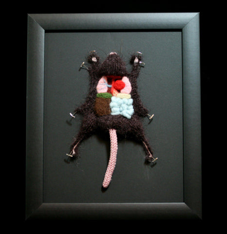 Knitted Lab Brown Rat-Craft-Crafty Hedgehog-PaxtonGate