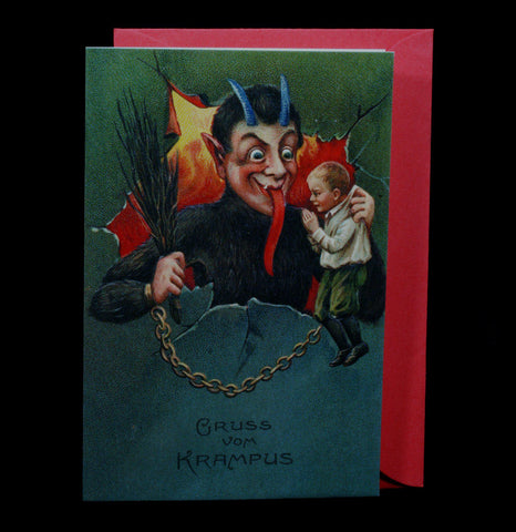 Gruss Vom Krampus Holiday Greeting Card - PaxtonGate