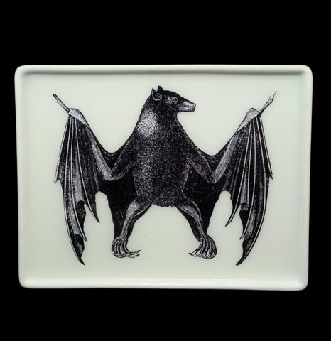 Decoupage Glass Bat Tray - PaxtonGate