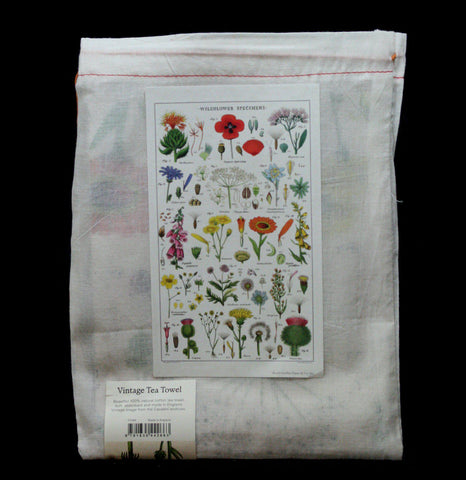 Wildflowers Tea Towel-AccessMisc-Cavallini & Co.-PaxtonGate