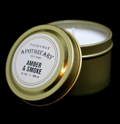 Apothecary Tin Candle Amber and Smoke - PaxtonGate