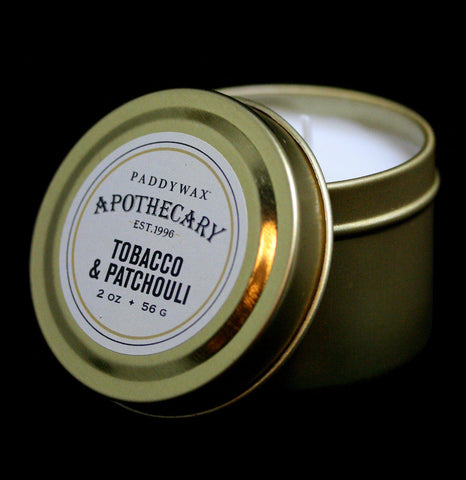 Apothecary Tin Candle Tobacco and Patchouli - PaxtonGate