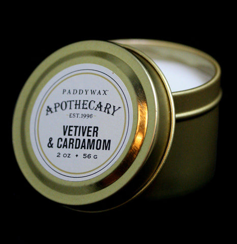 Apothecary Tin Candle Vetiver & Cardamom - PaxtonGate