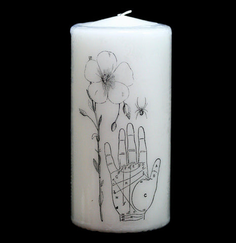 Palmistry Pillar Candle - PaxtonGate
