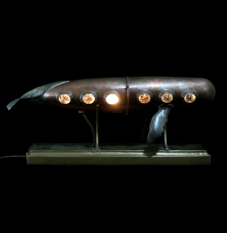 Evan Chambers Whale Lamp on Bronze Base - PaxtonGate